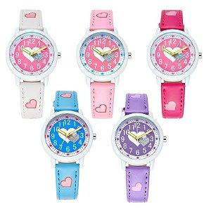Relógio com Corações Brilhantes - 5 cores - À prova D'Água