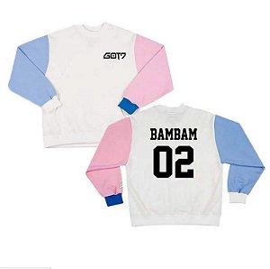 Blusa de Moletom Pullover Grupo GOT  7 - Nome dos integrantes - Tamanho único