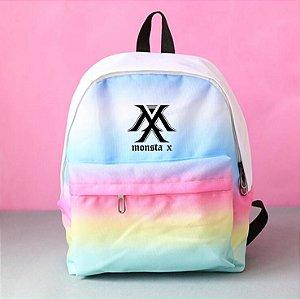 Monsta X Mochila Escolar - Alças Reforçadas - Cores gradientes