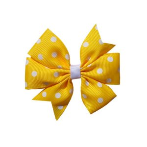 Laço de Cabelo Amarelo Poá - M