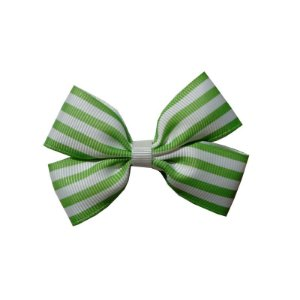 Laço Infantil Verde Listrado - M