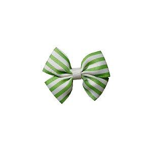 Laço Infantil Pequeno Verde Listrado - P