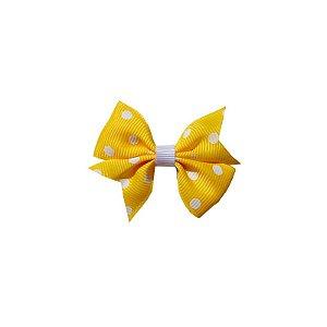 Laço para Cabelo Infantil Amarelo Poá - P