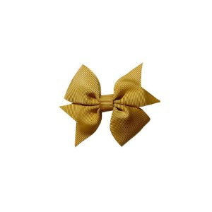 Laço para Cabelo Infantil Dourado - P