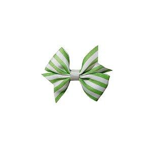 Laço para Cabelo Infantil Verde Listrado - P