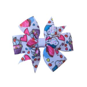 Laço de Cabelo Cupcake Branco - M