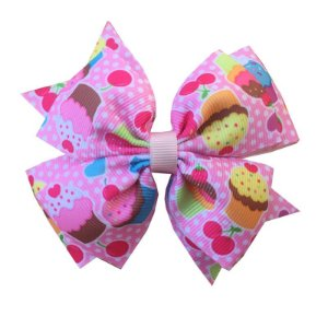 Laço Grande Cupcake Rosa - Sobreposto