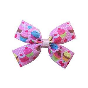 Laço Infantil Cupcake Rosa Claro - M