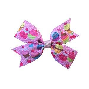 Laço para Cabelo Cupcake Rosa Claro - M
