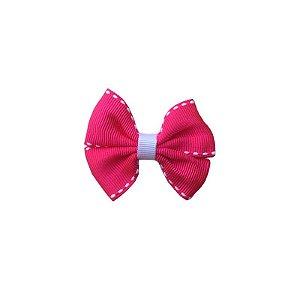 Laço Infantil Pequeno Rosa Escuro Pespontado - P