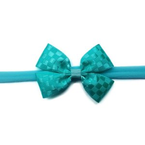 Faixa de Bebê Azul Tiffany Quadriculado