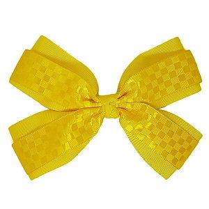 Laço de Cabelo Amarelo Quadriculado - Duplo GG