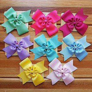 Kit 8 Laços para Cabelo Grande - Candy Colors