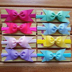 Kit 8 Faixas para Bebê com Meia de Seda - Candy Colors