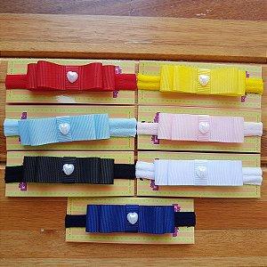 Kit com 7 Faixas de Laço Chanel para Bebê - Cores Básicas