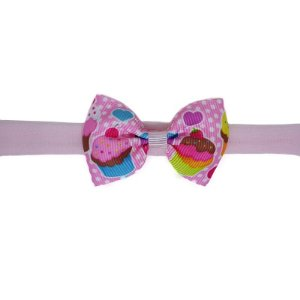 Faixinha para Bebê - Estampa Cupcake Rosa Claro