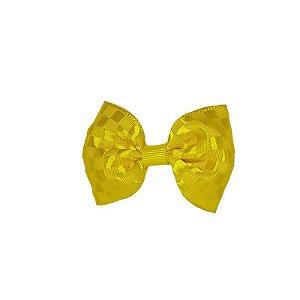 Lacinho de Bebê Amarelo Quadriculado - P