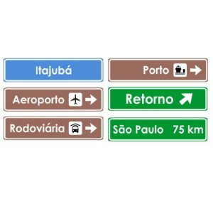 Placa indicativa personalizada HO (1 linha)