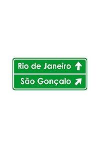 Placa indicativa personalizada HO (2 linhas)