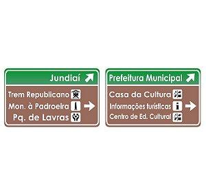 Placa indicativa personalizada HO (4 linhas)