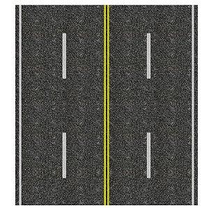 Adesivo avenida c/ 4 pistas+faixa central HO (códs. 1107 A 1157)