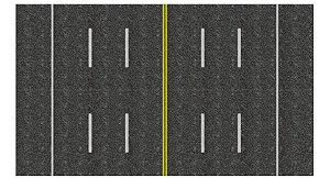 Adesivo Via-expressa C/ 6 pistas+central+acostamento Ho (códs. 1307 A 1357)