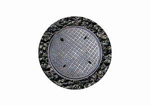 Adesivo tampa de bueiro para vias HO (cód. 857)