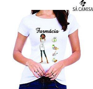 Camisa Feminina Baby Look - Gola Redonda -Farmacia