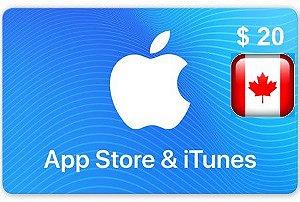 iTunes Gift Card 20 Canada - Cartão Itunes Canadense