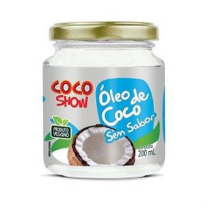 ÓLEO DE COCO SEM SABOR - 200ML - COCO SHOW