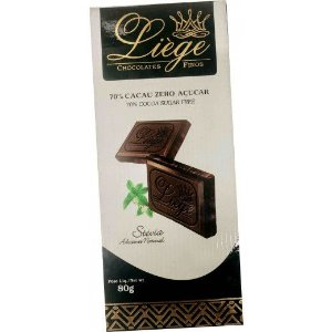 CHOCOLATE 70% CACAU ZERO - 80G - LIÈGE