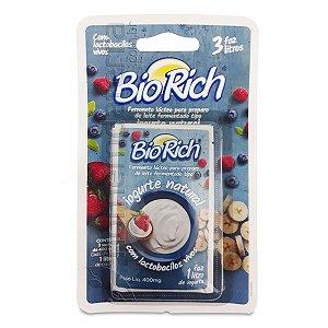 Bio Rich Fermento - Iogurte Natural - 3 Sachês de 400 mg
