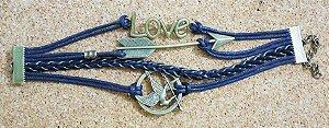 Pulseira tordo/flecha/love