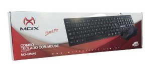 Kit Teclado e Mouse C/Fio MOX MO-440