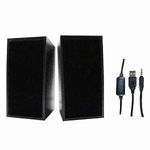 Caixa De Som X-Cell Preto P/ PC 10W XC-CM-16