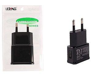 Carregador USB p/cel 5V/1A LE-9018