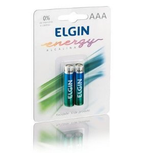 Pilha Elgin c/2 AAA Alcalina LR3
