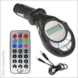 Transmissor FM Wireless Sem Fio Veicular Carro Mp3
