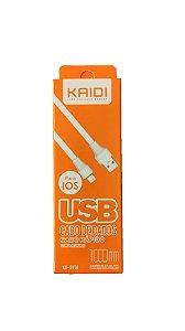 Cabo de Dados e Carga Rápido Kaidi IPhone 1M