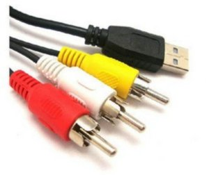 Cabo USB Macho para 3 RCA 1.5m