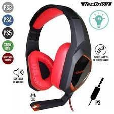 Fone Headset Tecdrive Gamer LED P/CEL/PS3-PS4/XBOX ONE NSWITCH PX-7