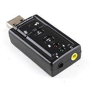 Adaptador de som usb 2.0 externo 7.1 canais