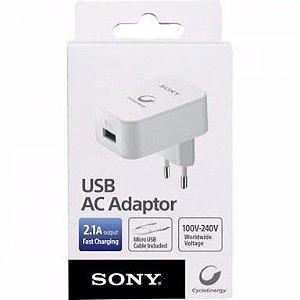 Carregador Sony AC de parede 2.1A