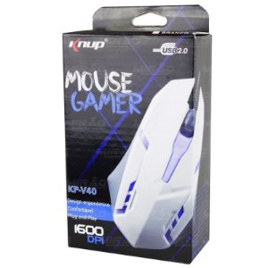 Mouse Gamer Optico Usb 1600dpi Kp-v40