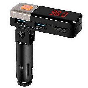 Transmissor Fm Bluetooth Atendimento Carregador Usb Knup FM-O43DMBT