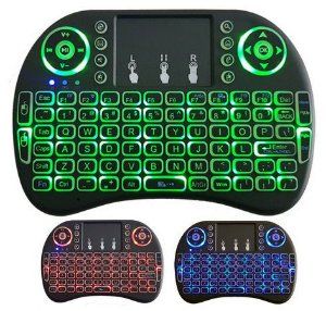 Mini Teclado Led Sem Fio Wirelles C/ Luz P/ Tv box E Smart Tv