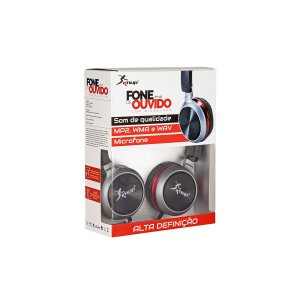 Fone De Ouvido Knup KP-423 Microfone C/Fio P2 1.20M