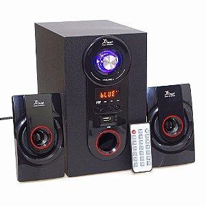 Caixa Som Subwoofer 2.1 Knup 18W RMS Bh6009 Bluetooth
