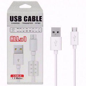 Cabo de Dados USB + Micro USB (V8) 1.5M