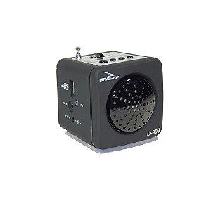 Caixa de Som Portátil 3W FM/USB/Aux/Micro SD - Mp3 -